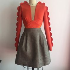 Three floor dress Worn once,us0. Uk 4.similar  style with self portriat and for love and lemons. Three floor Dresses Mini