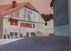Pierre-Yves SAUTY                        Ferme de la Vallée de Joux Oeuvre D'art, Les Oeuvres, Sculpture, Painting, Farm Gate, Contemporary, Artist, Paint, Painting Art