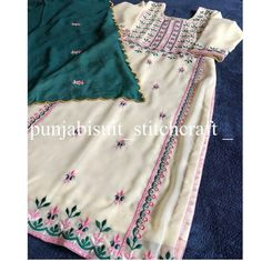 Embroidery Suits Punjabi, Embroidery Suits Design, Embroidery Designs, Punjabi Suits Designer Boutique, Boutique Suits, Ladies Suit Design, Bridal Suits Punjabi, Suits For Women, Clothes For Women