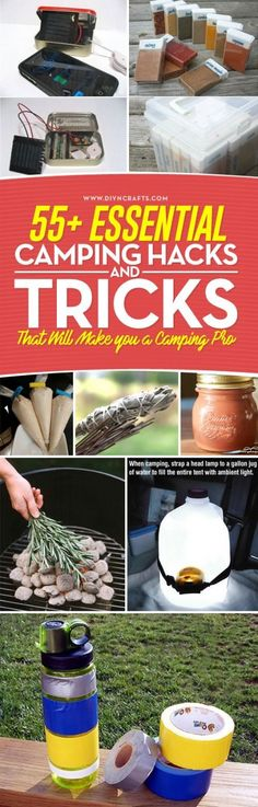 55+ Essential Camping #Hacks and #Tricks That Will Make you a #Camping Pro - Summer is nearly here and you know that that means – Camping! If you're like me, camping is the best part of summer, especially when you have a list of awesome camping hacks that