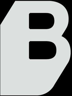 B, eenvoudig maar herkenbaar. Less is more.
