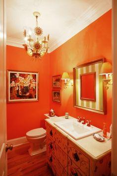 Perfect For My Orange Bathroom House Ideas Pinterest Orange Bathrooms And Laundry Room Bathroom
