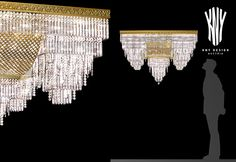 Decorative Crystal Ceiling Lights - Crystal Gold Ceiling Lights Decorative Lighting by Kny Design with Swarovski Crystals 24ct. Gold Plated www.kny-design.com Crystal Ceiling Light, Ceiling Lights, Decorative Lighting, Led, Light Decorations, Swarovski Crystals, Plating, Chandelier, Design