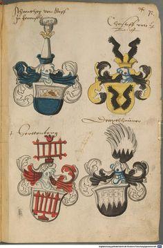 Wappen deutscher Geschlechter Augsburg ?, 4. Viertel 15. Jh. Cod.icon. 311 Folio 72r