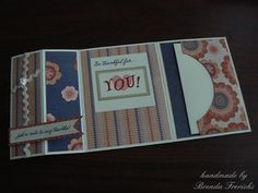 cool card with not card pocket to write something special to the person you are sending it to.  'What a great idea!