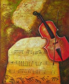 Hand Finished Oil Paintings - Wall Art finished in USA History: Music of Antiquity is a hand finished canvas oil painting. This modern wall art celebrates the music of the violin. Placed in
