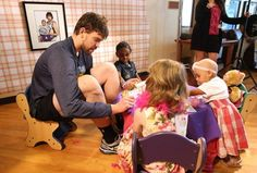 Recently, members of the Memphis Grizzlies went to St. Jude Children's Research Hospital in Memphis and had a tea party with the kids. Marc Gasol and Rudy Gay really enjoyed themselves.