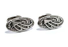 Edwardian Cufflinks  - Art Nouveau - Art Deco - Steel
