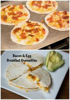 Bacon & Egg Breakfast Quesadillas ~ New 31 Days of Breakfasts Recipe!   5DollarDinners.com