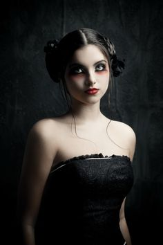 goth gothic vampire alternative lolita dark makeup dress skirt heels beautiful pretty sexy girl woman fetish