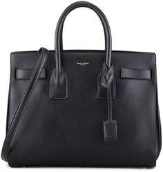 Saint Laurent Sac de Jour Carryall Bag, Black