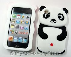 iPod Touch 4 4th Gen Panda Bear Silicone Rubber Protector Soft Skin Case Cover   eBay