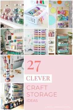Craft supplies getting a little out of control and in need of some craft storage ideas? Check out 27 clever craft organising solutions at A Visual Merriment Marker Storage, Paint Storage, Fabric Storage, Craft Storage, Storage Ideas, Creative Storage, Kids Craft Supplies, Arts And Crafts Supplies, Art Supplies