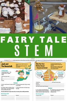 Fun Fairy Tale STEM activities with FREE printable instructions. Make and easy with these simple Fairy Tale STEM Challenges Fairy Tale Activities, Science Activities For Kids, Preschool Science, Science Experiments Kids, Stem Activities, Science Fun, Summer Science, Science Chemistry, Physical Science
