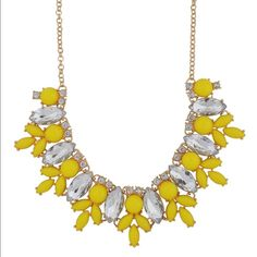 Yellow statement necklace Necklace Length: 19 inches and 2.3 inches extension Jewelry Necklaces