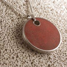 Nagy piros beton nyaklánc Washer Necklace, Silver, Diy, Jewelry, Jewlery, Bricolage, Jewerly, Schmuck, Do It Yourself