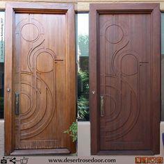 Transformation of this beautiful custom door! #desertrosedoor #doorrefinishing #homeimprovement. #firstimpressions