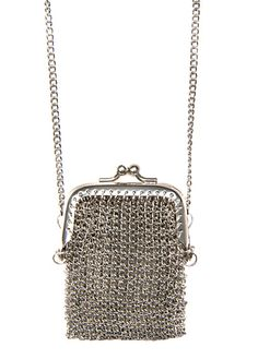 MANGO - Collar monedero malla