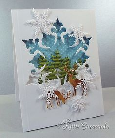 How beautiful and peaceful is this card!  I'd be happy receiving it.