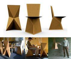 kraftwerk: DIY Cardboard Chair — DIY -- Better Living Through Design