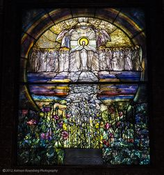 Tiffany window, Wade Chapel, Lakeview Cemetery, Cleveland, OH