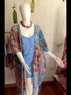 Síguenos en Instagram y Facebook como @mas Summer Trends, Kimono Top, Facebook, Boho, Instagram, Handmade, Design, Women, Fashion