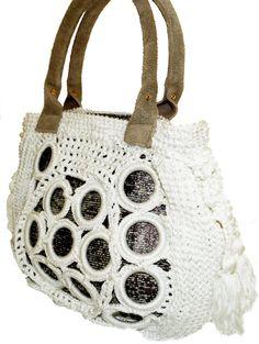 Haute Couture Crochet White Handbag