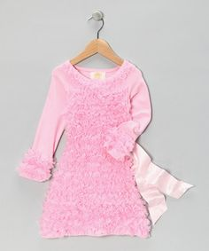 Take a look at this Pink Ruffle Sash Dress - Toddler & Girls by Mia Belle Baby on #zulily today!