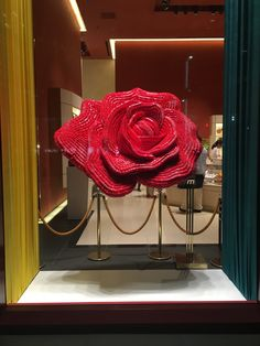 "SHISEIDO PARLOUR, Tokyo, Japan, ""The Rose made out of lipsticks"", pinned by Ton van der Veer"