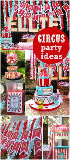 a fun carnival party for a first birthday! Love the decorations! See more party ideas at ! Dumbo Birthday Party, 2 Birthday, 1st Birthday Themes, Circus Birthday, Turtle Birthday, Turtle Party, Birthday Ideas, Circus Carnival Party, Circus Theme Party