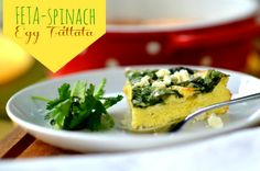 Feta-Spinach Egg Frittata @placeofmytaste.com | quick and easy weekday dinner