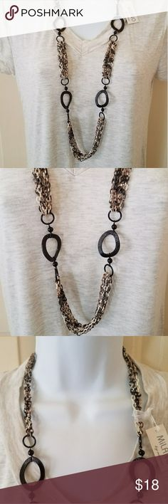 Aluminum Chain Necklace Python Milano by Nanni 18 in. Long The necklace goes on over the head. No clasp.  Great neutral tone necklace that looks great with lots of tops. Unlisted Jewelry Necklaces