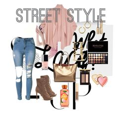 """Lace up booties"" by eliyanakubelis on Polyvore featuring Melissa McCarthy Seven7, Too Faced Cosmetics, Stila, Dolce&Gabbana and plus size clothing"
