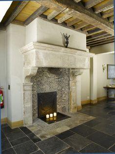 Belgisch blue stone Floor and castle style chimney