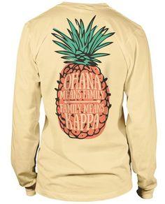 So cute I could scream!  Kappa Kappa Gamma Pineapple T-shirt - mens casual button shirts, pink mens shirts store, olive green mens shirt *ad