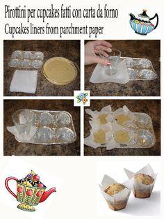 pirottini muffin con carta forno