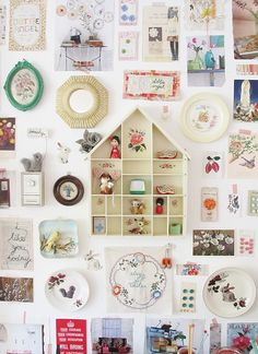 upon returning from my summer travels i made a 'bits and bobs' wall... i did not set out to make one, however that is what sometimes happe...