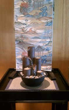 Bring the #spa to you this #summer with this soothing tabletop candle fountain. #morikami
