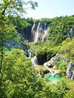 Plitvice Lakes National Park, Zagreb, Croatia. Nestled right in the heart of the capital of Croatia, you have to visit these incredible waterfalls if you are anywhere near.