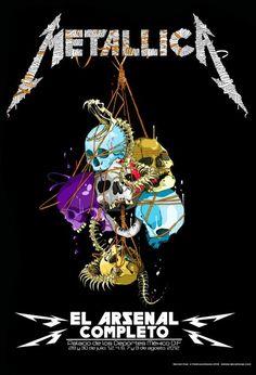 Metallica skulls colors