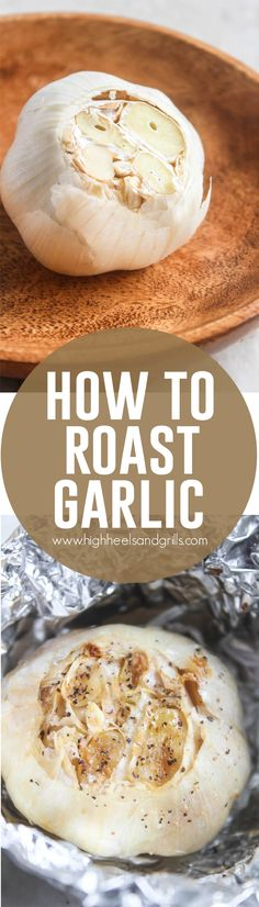 In this post, I will teach you just how to roast garlic and also give you a few ideas of what you can do with that roasted garlic as well. Vegetable Dishes, Vegetable Recipes, Great Recipes, Favorite Recipes, Cooking Recipes, Healthy Recipes, Cooking Tips, Roasted Garlic, Dessert