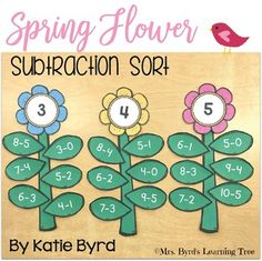 This is a fun, hands-on math activity you can use for centers or stations in your kindergarten or first grade Math Subtraction, Subtraction Activities, Math Activities, Numeracy, Math For Kids, Fun Math, Math Games, Math Help, Learn Math
