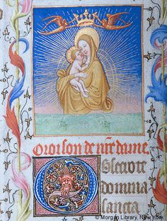 Book of Hours, MS M.1004 fol. 10v - Images from Medieval and Renaissance Manuscripts - The Morgan Library & Museum