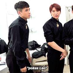 I love how Leo automatically covers his bootie. XD || VIXX || Leo || Jung Taekwoon || Ravi || Kim Wonsik || Starlights ||