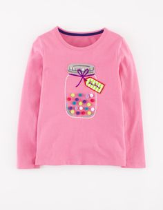 Mini Boden Dotty Appliqué Tee (Toddler Girls, Little Girls & Big Girls) Mini Boden, Baby Girl Fashion, Toddler Fashion, Kids Fashion, Kids Outfits Girls, Baby Boy Outfits, Girls Tees, Shirts For Girls, Nordstrom