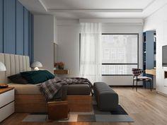 дизайн Мастер спальня и идеи темы