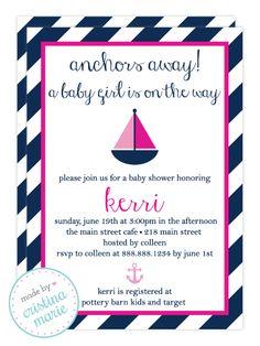nautical girl baby shower #nauticalgirl #nauticalbabyshower #madebycristinamarie