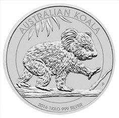 1 KILO SILVER 2016 AUSTRALIAN KOALA COIN