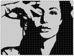 Angelina Jolie x-stitch