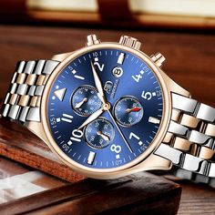 Item Type: Quartz Wristwatches Water Resistance Depth: 3Bar Case Shape: Round Boxes & Cases Material: Paper Feature: Water Resistant,Complete Calendar Dial Diameter: 42mm Style: Fashion & Casual Dial Window Material Type: Coated Glass Band Material Type: Alloy Case Material: Alloy Band Width: 20mm Model Number: